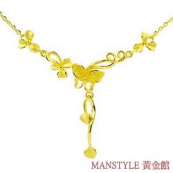 Manstyle 飛舞春風黃金小套鍊 (約2.19錢)