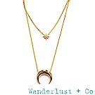Wanderlust+Co 澳洲品牌 新月金項鍊 北極星項鍊 CRESCENT STAR