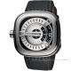 SEVENFRIDAY M1 設計師工藝自動上鍊機械錶-銀x黑/47mm product thumbnail 1