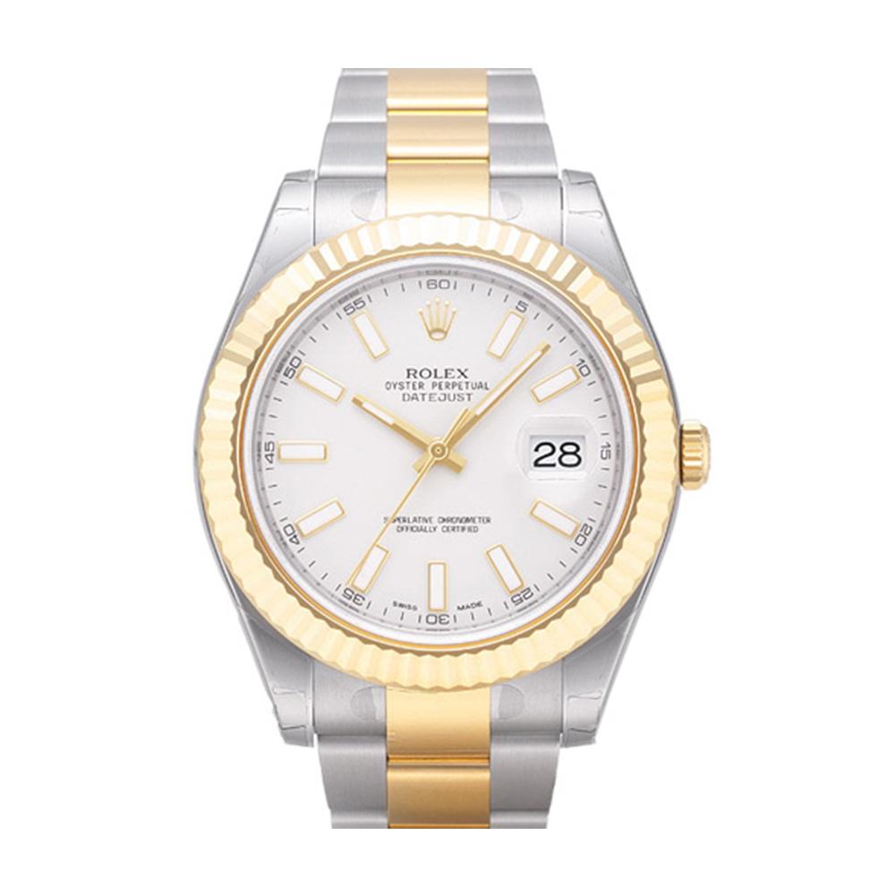 ROLEX 勞力士 116333 蠔式恆動日誌型半金腕錶-象牙白/41mm