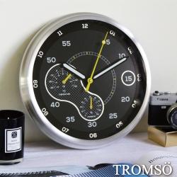 TROMSO風尚義大利金屬時鐘-超跑雙圈黃
