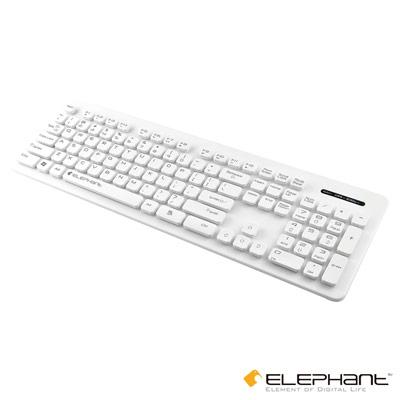 ELEPHANT 懸浮式防水巧克力鍵盤(KE008W)白