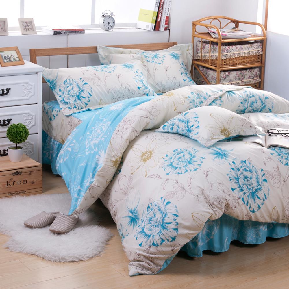 Saebi-Rer-秀麗輕舞 台製高級活性柔絲絨雙人六件式床罩組