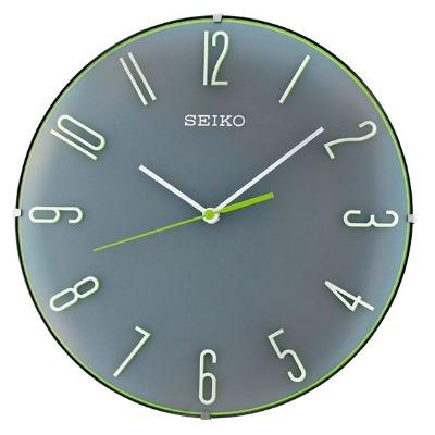 SEIKO 日本精工 滑動式秒針 靜音掛鐘 時鐘(QXA672N)-灰/30cm
