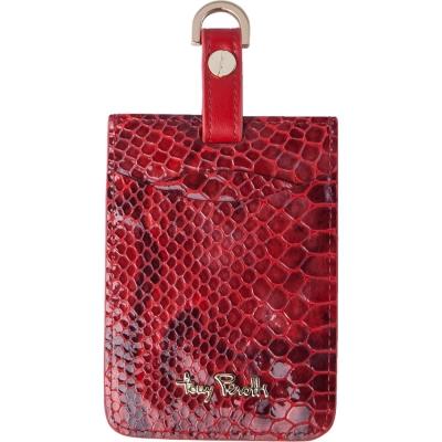 TONY PEROTTI 義大利蟒蛇紋 識別證/行李吊牌 #3300 ( 紅色 )