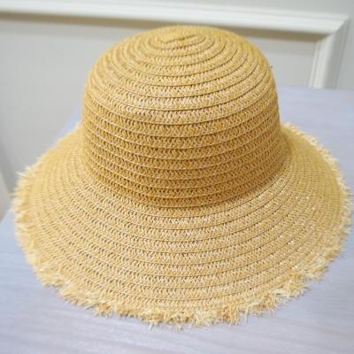 梨花HaNA 韓國夏天到了我要去海邊毛邊草帽-速