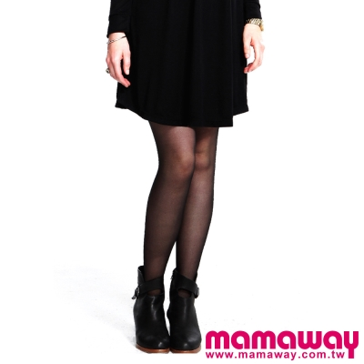 Mamaway-孕期超彈力不勾紗褲襪-共二色