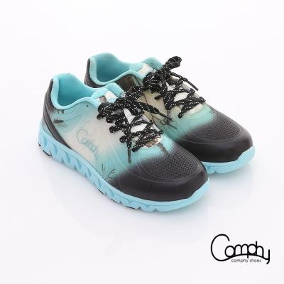 Comphy 超輕漫步 漸層圖騰印刷布料綁帶運動鞋 淺藍
