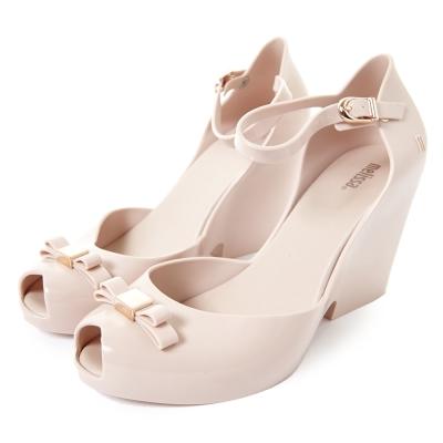 MELISSA-蝴蝶結美學高跟鞋-粉紅