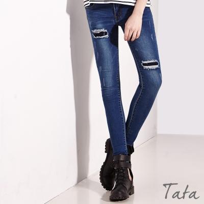 補丁造型牛仔褲-TATA