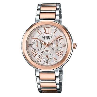 SHEEN完美閃耀羅馬時刻施華洛世奇腕錶(SHE-3034SPG-7A)白x金/34mm