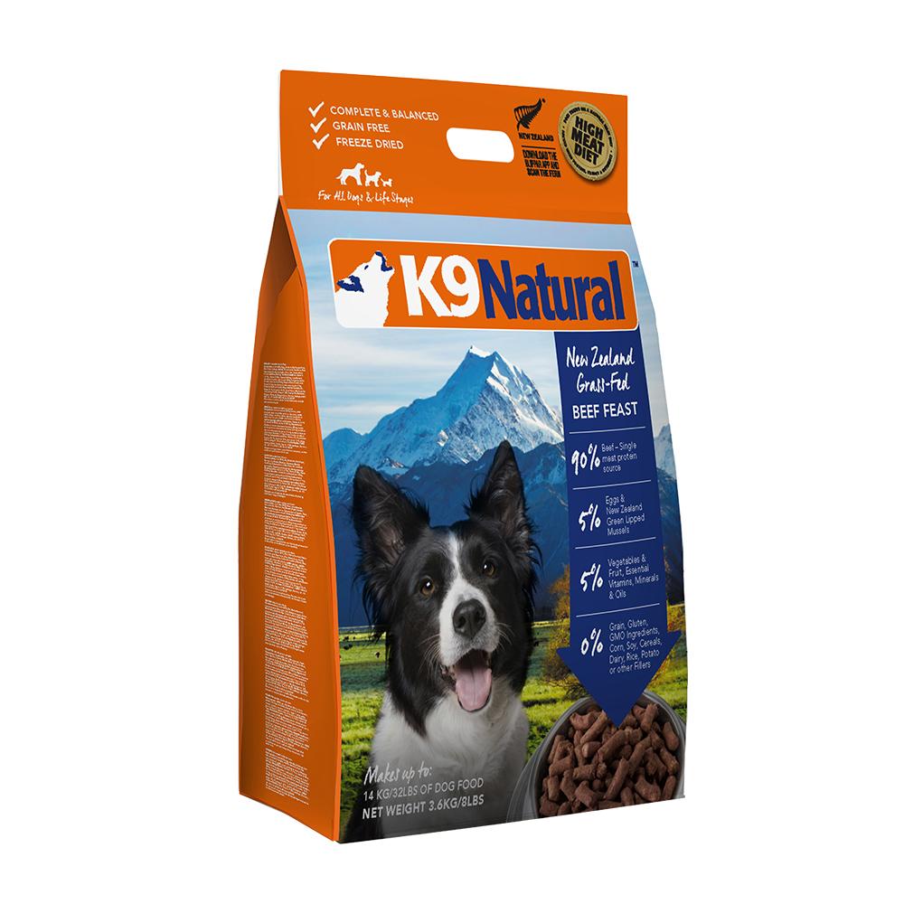 紐西蘭 K9 Natural 冷凍乾燥狗狗生食餐90% 牛肉3.6kg