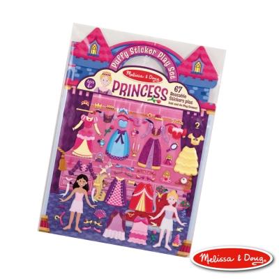 美國瑪莉莎 Melissa & Doug 可重複貼泡泡貼紙遊戲書 - 公主的皇宮舞會