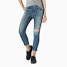 Levis 女款 721 高腰緊身窄管 亞洲版型 破壞細節 彈性牛仔長褲