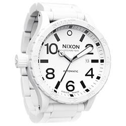 NIXON The ceramic 51-30 陶瓷機械腕錶-白/51mm