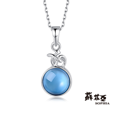 蘇菲亞SOPHIA-玩美寶石系列-圓型拓帕石項鍊