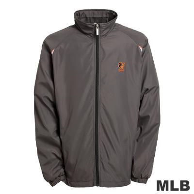 MLB-巴爾的摩金鶯隊立領風衣外套-深灰(男)