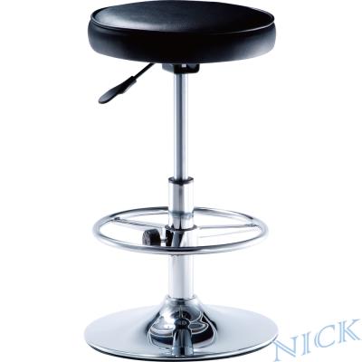 【NICK】高圓型電鍍腳吧檯椅_圓盤腳座(可調式腳踏圈)
