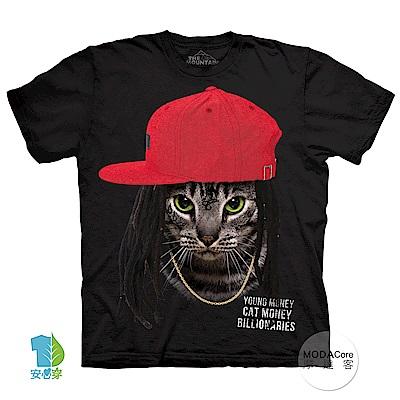 摩達客 美國進口The Mountain 嘻哈饒舌貓 純棉環保短袖T恤