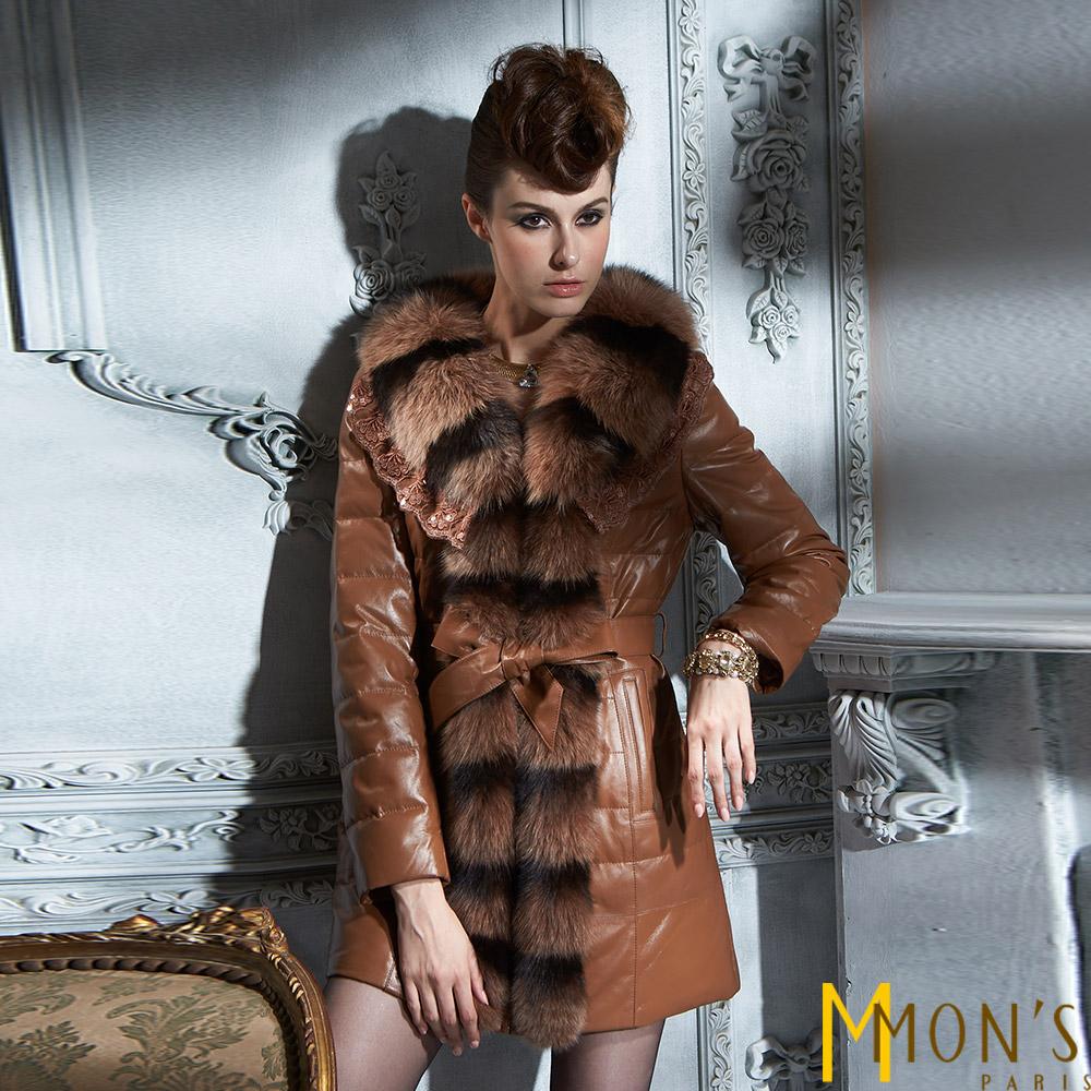 MONS芬蘭嚴選狐毛羊皮大衣共二色-沙漠