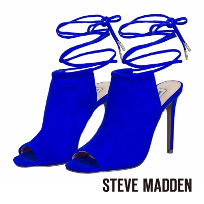 STEVE-MADDEN-細緻綁帶露趾高跟涼鞋-藍