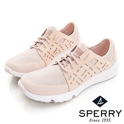 SPERRY 全新進化7SEAS幾何鏤空時尚休閒鞋(女款)-粉