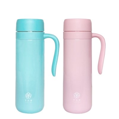 FUSHIMA富島 北歐風炫彩泡茶、咖啡兩用保溫瓶450ML(2色可選)