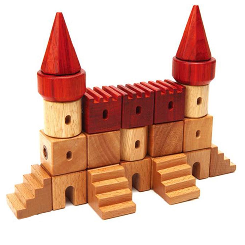 《韓國愛迪EDTOY》磁吸城堡積木