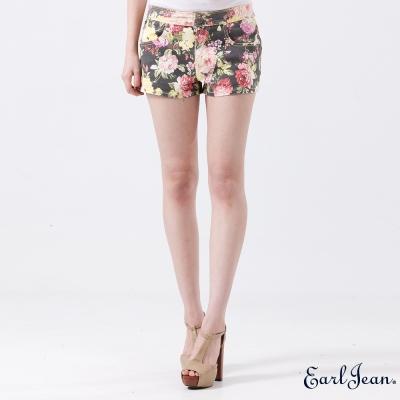 Earl Jean-花朵印花短褲