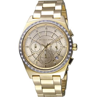 Michael Kors 星光伸展台計時腕錶 -金色/38mm