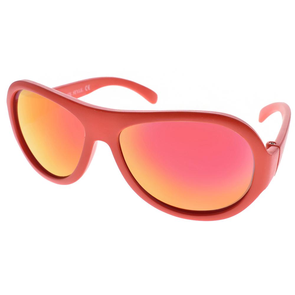 SHADEZ兒童太陽眼鏡 無毒可彎曲/橘-紅水銀#SH15SHZ3 C08