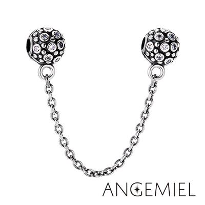 Angemiel安婕米 925純銀夾扣式安全鍊 迷戀