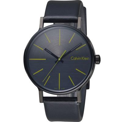 Calvin Klein Mens Boost  鼓動系列時尚腕錶-黑x綠/41mm