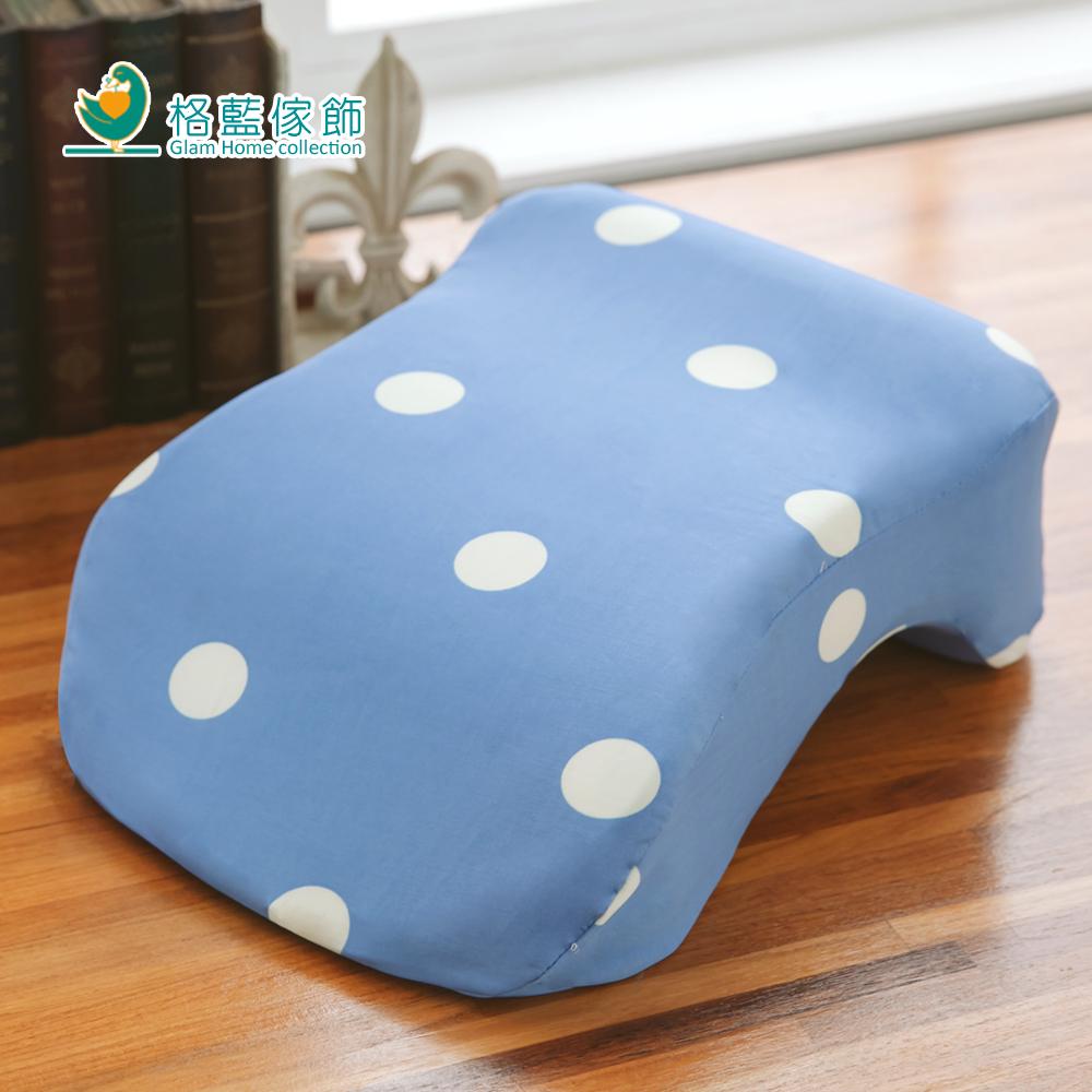 格藍傢飾 水玉涼感舒壓午睡枕-蘇打藍