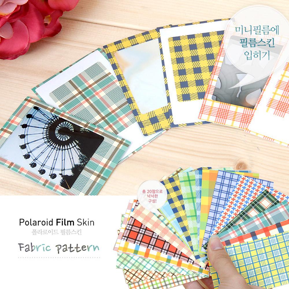 kiret韓國DIY相框拍立得相片邊框貼紙20入-fabric英式格紋