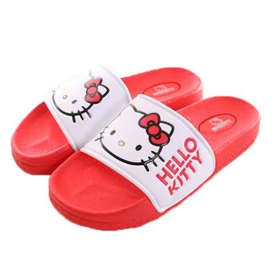 Hello kitty成人拖鞋 紅 sh0029 魔法Baby