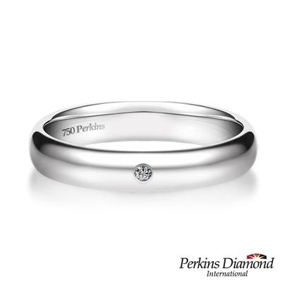 PERKINS 伯金仕 Classic系列 18K白金 鑽石戒指