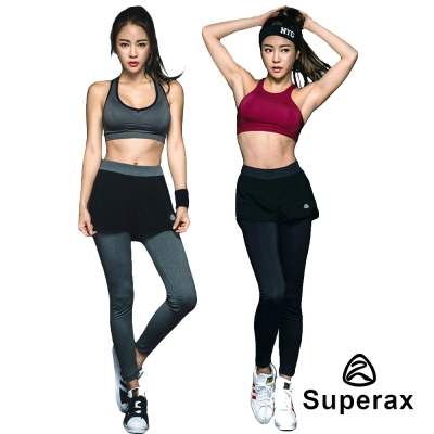 SUPERAX 韓運動緊身褲-運動背心-任選兩件79折