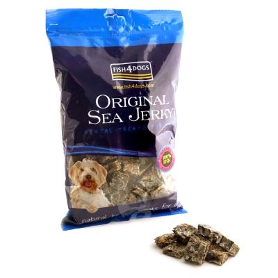 【海洋之星Fish4Dogs營養潔齒點心】魚皮方塊酥25mm、500g、適合一般犬隻食用