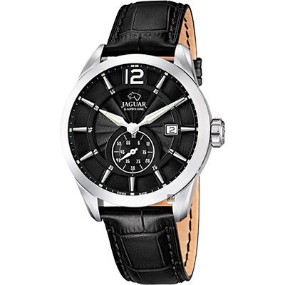 JAGUAR ACAMAR 經典小秒針手錶-黑/43mm