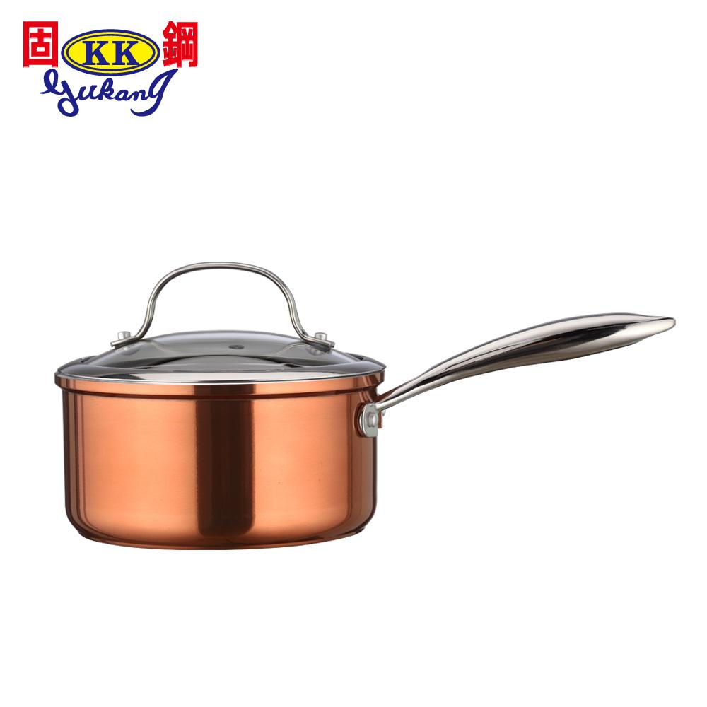 固鋼 皇家銅鈦精品鍋具18cm湯鍋