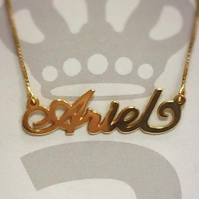 Anna Lou Of London 倫敦品牌 ARIEL 英文名字金色項鍊