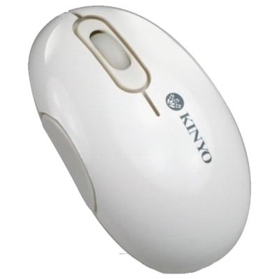 KINYO 白色USB光學有線滑鼠KM-765