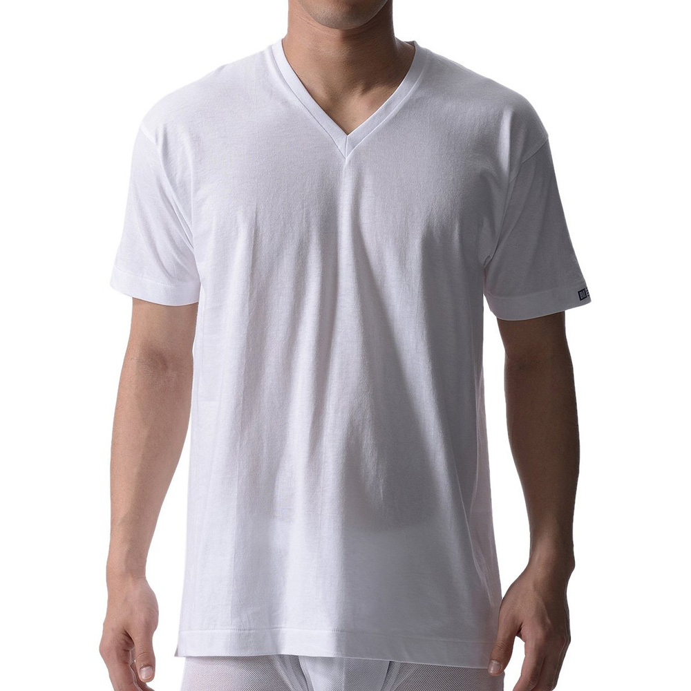 BVD 日本精紡交撚紗系列 V領短袖上衣 (白色) XL
