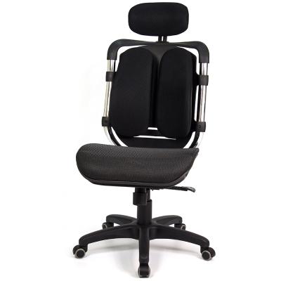 aaronation 愛倫國度-黑爪網布坐墊雙背式辦公電腦椅