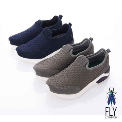 Fly London(女) Check 編織方格直套輕量都會運動鞋- 深灰