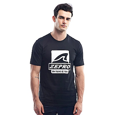 【ZEPRO】男子做自己休閒棉T-活性黑
