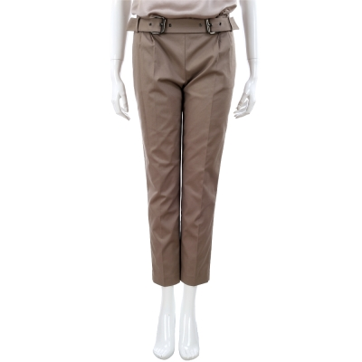 SCERVINO 深卡其色腰帶造型設計九分褲