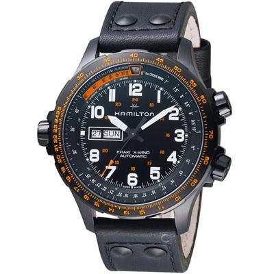 Hamilton 漢米爾頓 Khaki X-Wind御風者自動腕錶-45mm/黑色