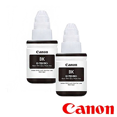 Canon G系列 原廠 GI-790BK 黑色墨水二入組合